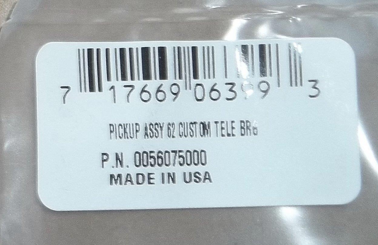 Fender® American Vintage `62 Telecaster Bridge Pickup~USA~0056075000 ...