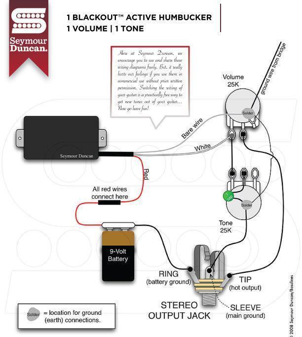 seymour duncan® ahb 1 blackouts neck pickup w wiring kit~active Seymour Duncan Wiring Guide seymour duncan wiring